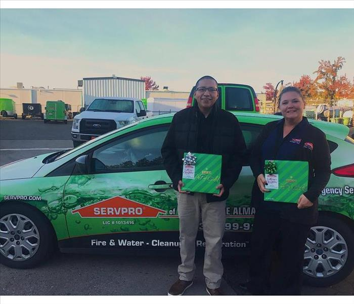 Dashing Through The Snow in Our SERVPRO Car