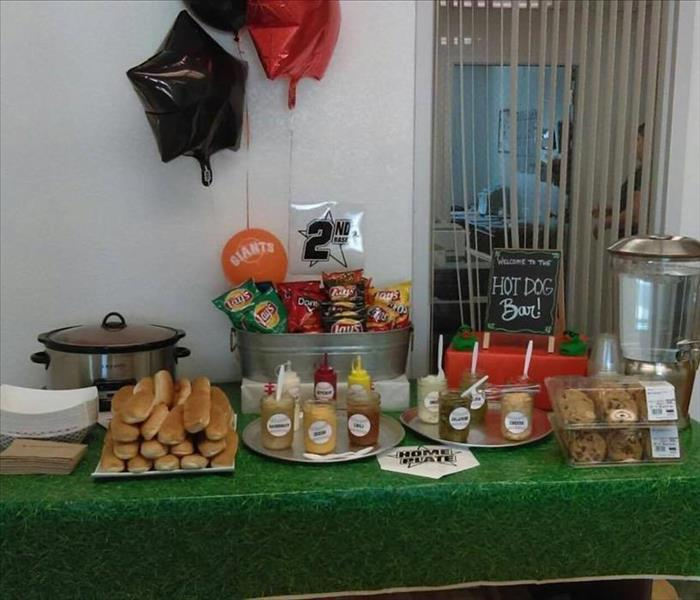 Our Delicious Hot Dog Bar!