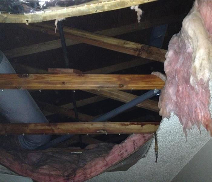 Collapsed Ceiling in Lake Almanor Vacation Home!