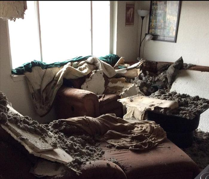 Resulting Storm Damage in Butte County Home