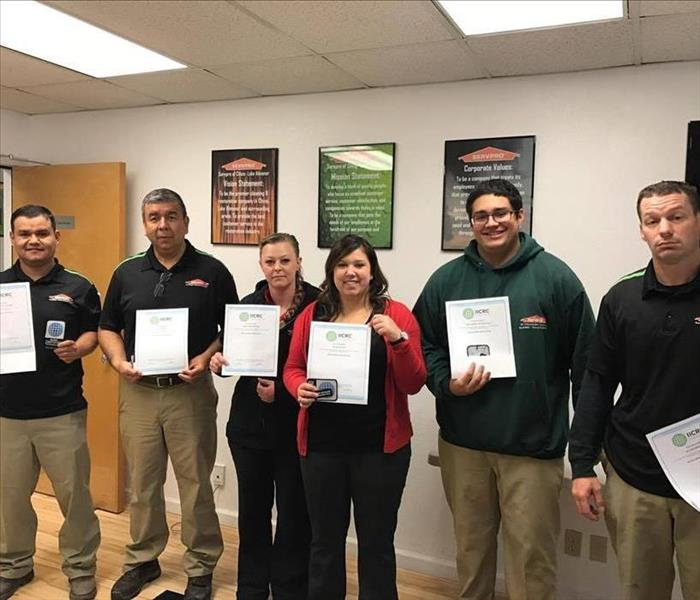 SERVPRO of Chico/Lake Almanor Staff Get IICRC Certified
